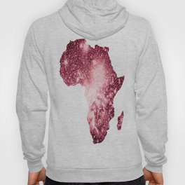 Pink Sparkle Galaxy Africa Hoody