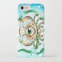 crab iPhone & iPod Cases featuring crab by KNDL KRKLND