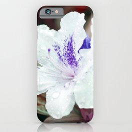 WHITE BLOSSOM - Rhododendron iPhone Case