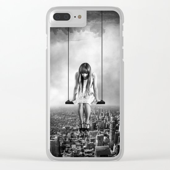 Girl Looking from Above Clear iPhone Case