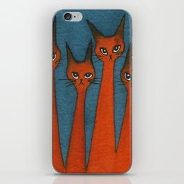 Candy Corn Whimsical Cats iPhone Skin