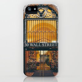 Wall Street NYC - entrance iPhone Case