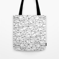 the wire Tote Bags featuring Geometric Wire by Maiko Nagao