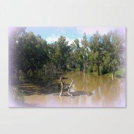 Dead trees Scuplture Canvas Print