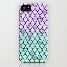Mermaid Princess Glitter Scales #2 #shiny #pastel #decor #art #society6 iPhone Case