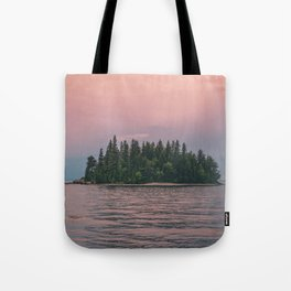 Lonely Island on Lac Saint-Jean Tote Bag