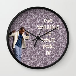 Leslie Odom Jr. (with Burr Quote) Wall Clock