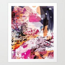 7: a vibrant abstract in jewel tones Art Print