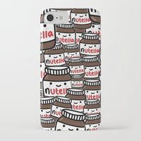 nutella iPhone & iPod Cases featuring Nutella Love by Pink Berry Patterns