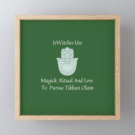JeWitch Tikkun Olam Framed Mini Art Print