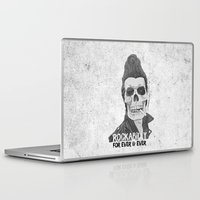 rockabilly Laptop & iPad Skins featuring Rockabilly for ever & ever by Stavros Damos