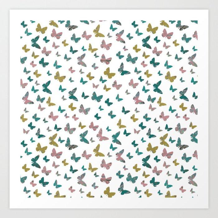 butterflies_pink Art Print