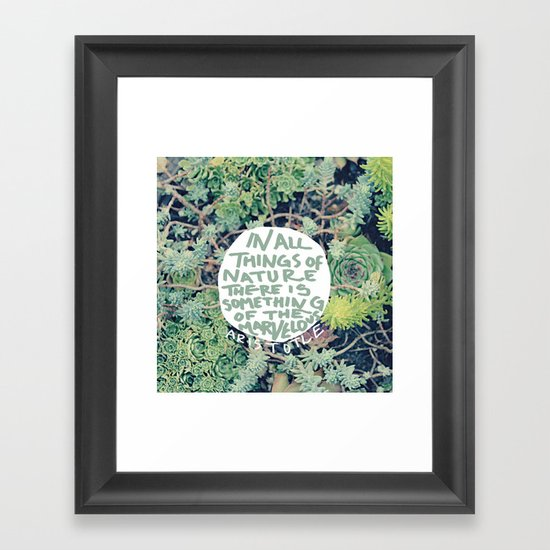 Aristotle: Nature Framed Art Print