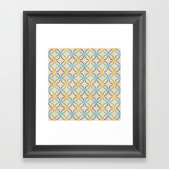 English Country Pattern. Framed Art Print