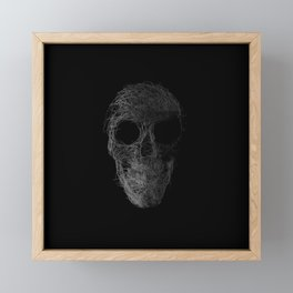 Sk(etch)ull Framed Mini Art Print