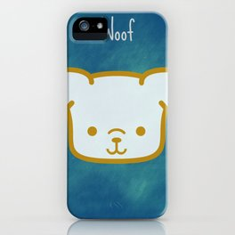 Woof - Dog Graphic - Chalkboard Inspired iPhone Case