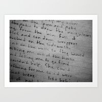 poetry Art Prints featuring poetry by dearforlorn