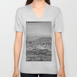 Pikes Peak and the Garden of the Gods, looking over the Gateway. Unisex V-Neck