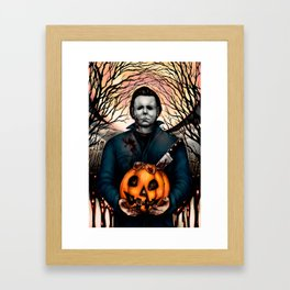 Halloween Pumpkin Surprise Framed Art Print