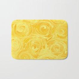 Honey Yellow Roses Abstract Bath Mat