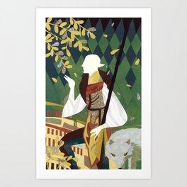Dragon Age Solas Tarot Paper Art Art Print