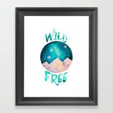 Wild & Free Boho Gypsy Galaxy Night Sky Framed Art Print