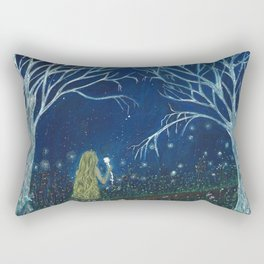 To the moon Rectangular Pillow