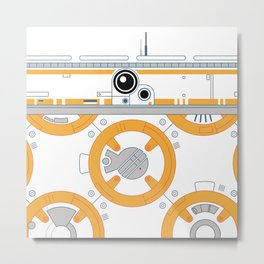 Minimal BB8 Droid Metal Print