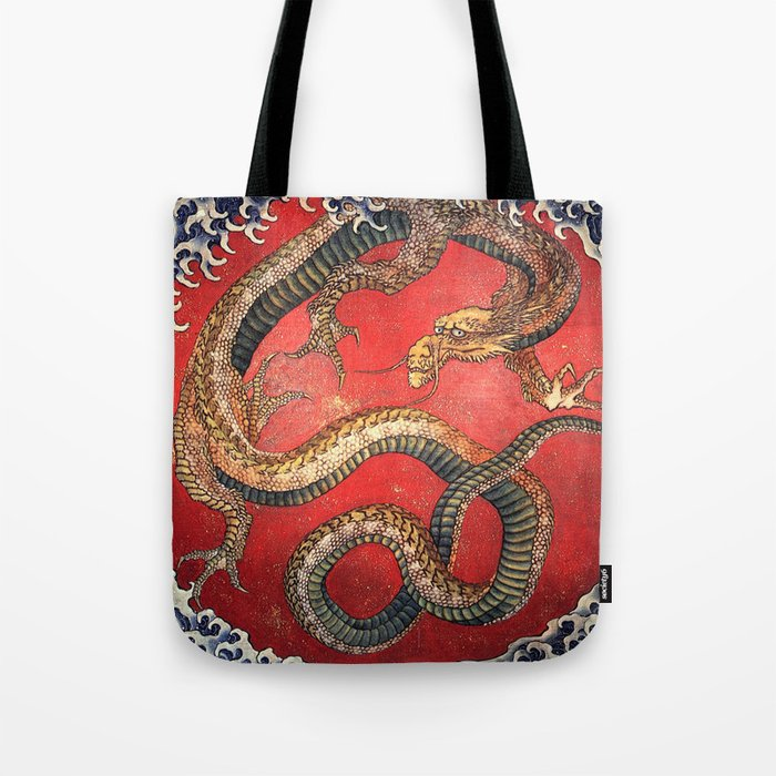 Dragon by Hokusai Tote Bag