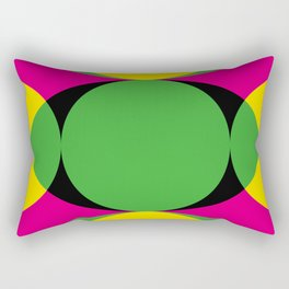 All seeing eye in the center ! The other eyes don't see as far. In a purple background. Rectangular Pillow