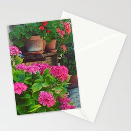 Hydrangeas in Orvieto Stationery Cards