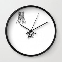 Female Veteran from Kansas Gift for Kansan Woman Veteran Wall Clock