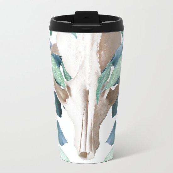 Fox into the Greenery Metal Travel Mug
