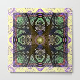 ANCIENT PEAR TREE MANDALA Metal Print