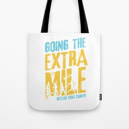 Awesome Cross Country Runners Running Extra Mile Tote Bag