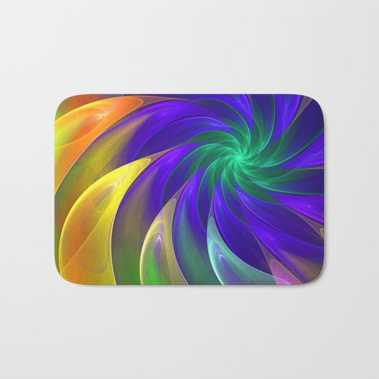 Abstract Color Swing Bath Mat
