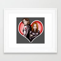 soviet Framed Art Prints featuring Soviet Sweethearts by rnlaing