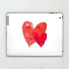 Watercolor couple of hearts Laptop & iPad Skin