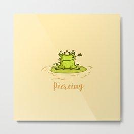 Piercing (Concept Funny Illustration) Metal Print