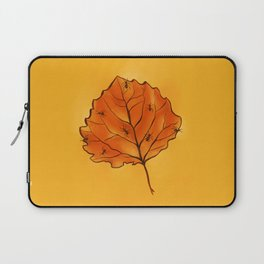 Autumn Leaf And Ants In Yellow Orange Laptop Sleeve