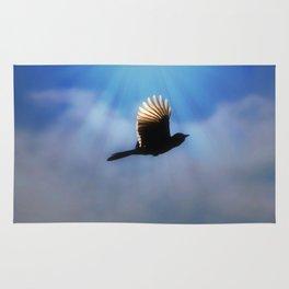 Blue Jay in Flight Rug