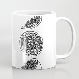 Citrus Branch of Lemons and Slices of Fruit Coffee Mug