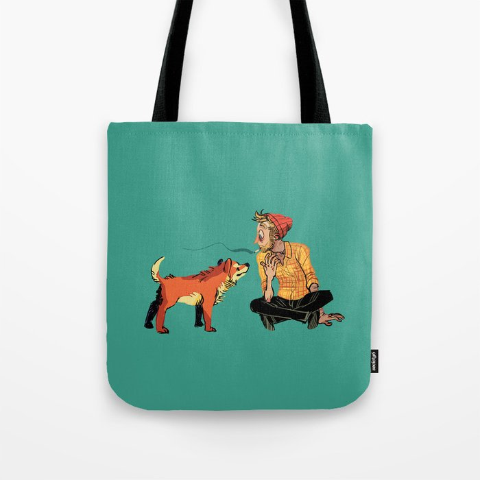 pet the dog Tote Bag