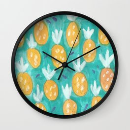 Fresh Pineapples Wall Clock