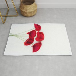 A Bunch Of Red Poppies Rug
