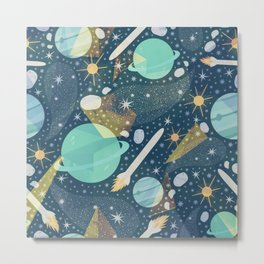 Colorful Abstract Space Background Pattern Metal Print