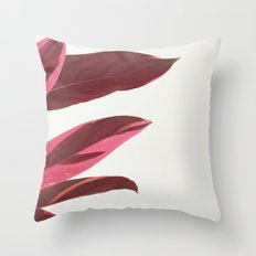 Red Leaves I Throw Pillow