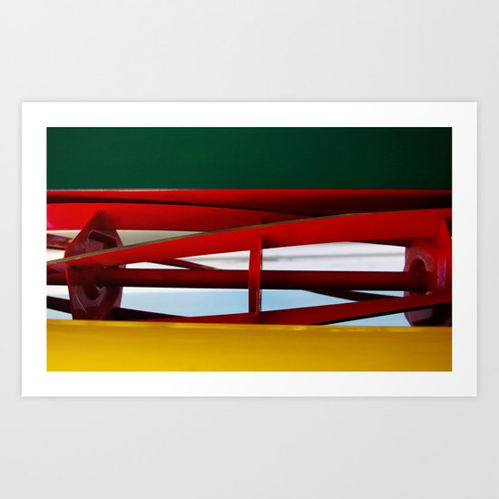 """tricolor lawnmower """"flag"""" abstract Art Print"""