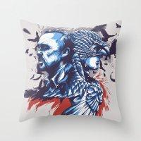 birdman Throw Pillows featuring Daily Film #3 - Birdman by Hyung86