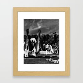 Civil Service and the Nature of Progress Framed Art Print
